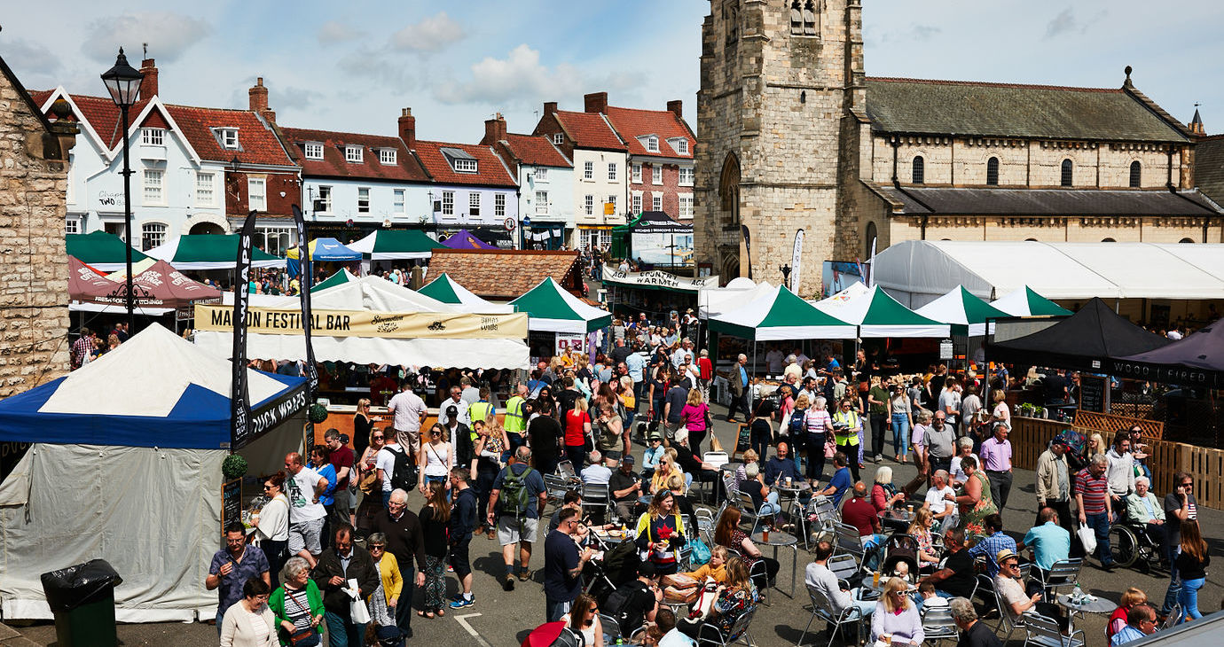 Malton FLF 2019 - Stalls Church Crowds
